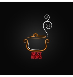 saucepan ornament background vector image