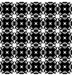 Seamless Monochrome Geometric Pattern vector image vector image