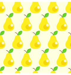 seamless pears background vector image vector image