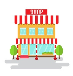 Shop of flat style building vector image
