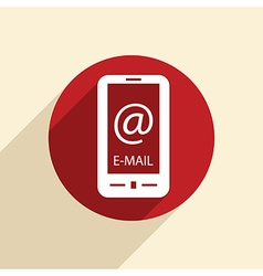 smartphone with the symbol mail vector image vector image