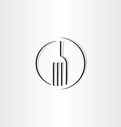 Stylized fork sign icon logo vector