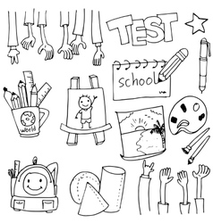 Tools education doodles art vector image