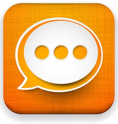 Web linen app speech bubble icon vector