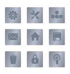 02 steel square computer icons vector image vector image