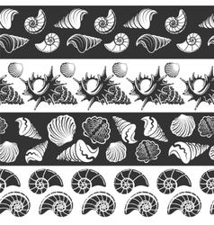 Sea seamless borders vector