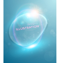 Blue bubble backdrop vector