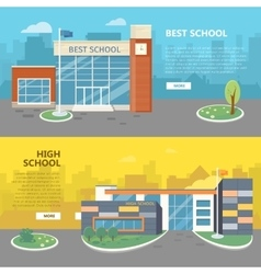 Best and high school horizontal banners vector