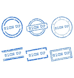 Sign up stamp vector