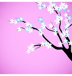 Cherry blossom decorative background vector
