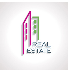 Modern real estate icon for business design vector