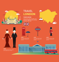 English map for traviling in london design vector