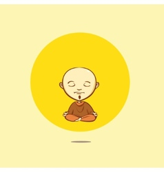 Cartoon buddhist monk vector