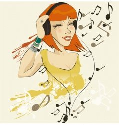 Headphone sally vector