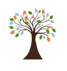 Decorative tree silhouette vector