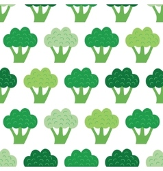 Fun broccoli seamless pattern vector