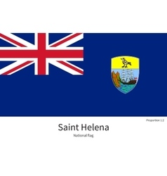 National flag of saint helena with correct vector
