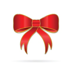 Bow happiness red vector