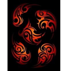 Fire flame tattoo shapes vector image