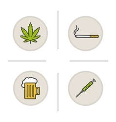 Bad habits icons vector