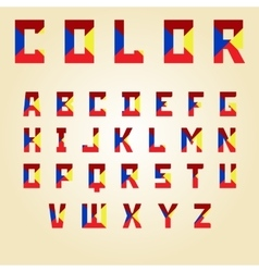 abstract color alphabet vector image
