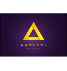 Alphabet letter A triangle logo icon design vector image