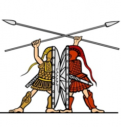 ancient fight vector image