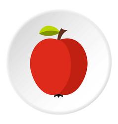 Apple icon circle vector