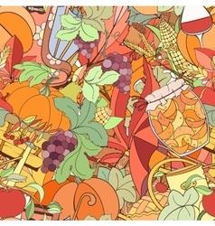 Autumn seamless pattern vector image vector image