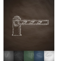 Barrier icon hand drawn vector