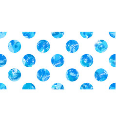 blue painted dots pattern vector image vector image
