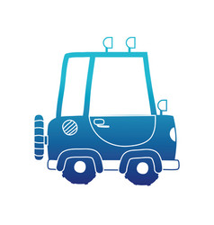 Blue silhouette tractor farm vehicle plant vector