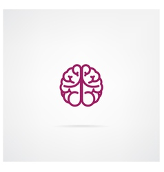 brain sign vector image