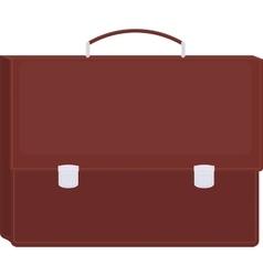 Brown briefcase icon vector image
