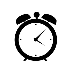 clock alarm icon vector image