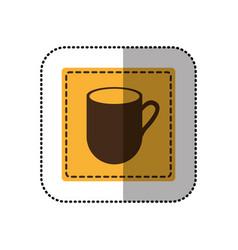 Color sticker cuppa icon vector