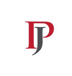 Creative letter jp logo vector