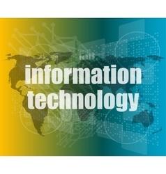 digital information technology concept background vector image