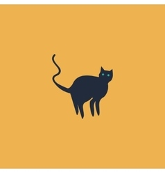 Evil Cat silhouette vector image vector image