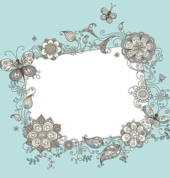 Floral blank sign vector image vector image