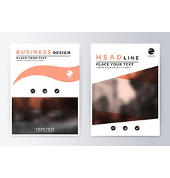 Flyer cover design peach template brochure vector