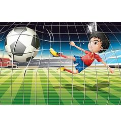 Football kicker vector