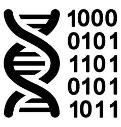 Genetical code icon vector