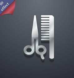 Hair icon symbol 3d style trendy modern design vector