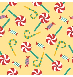 Happy Birthday Seamless Pattern with Candies vector image