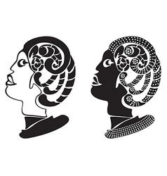 Human head and horror snake design vector