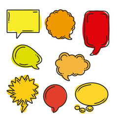 icon set pop art comics vector image