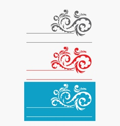 Label ornate vector