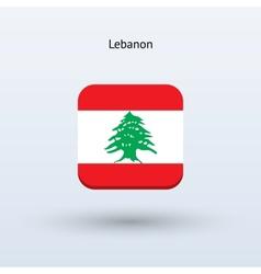 Lebanon flag icon vector image