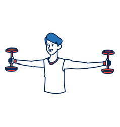 man character sport fitness athletic vector image